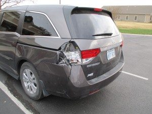2012 Honda Odyssey broken tail light