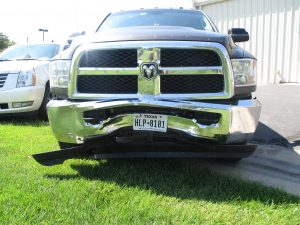 Dodge Ram bent fender
