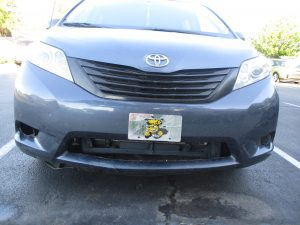 Toyota with Wichita State plate