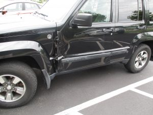 2008 Jeep Liberty with damage