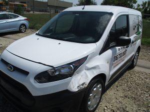 dented vehicle