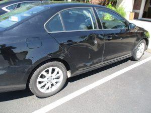 side impact damage to a vehicle