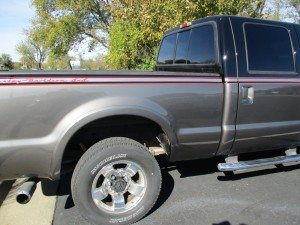 gray truck repaired at Andover shop