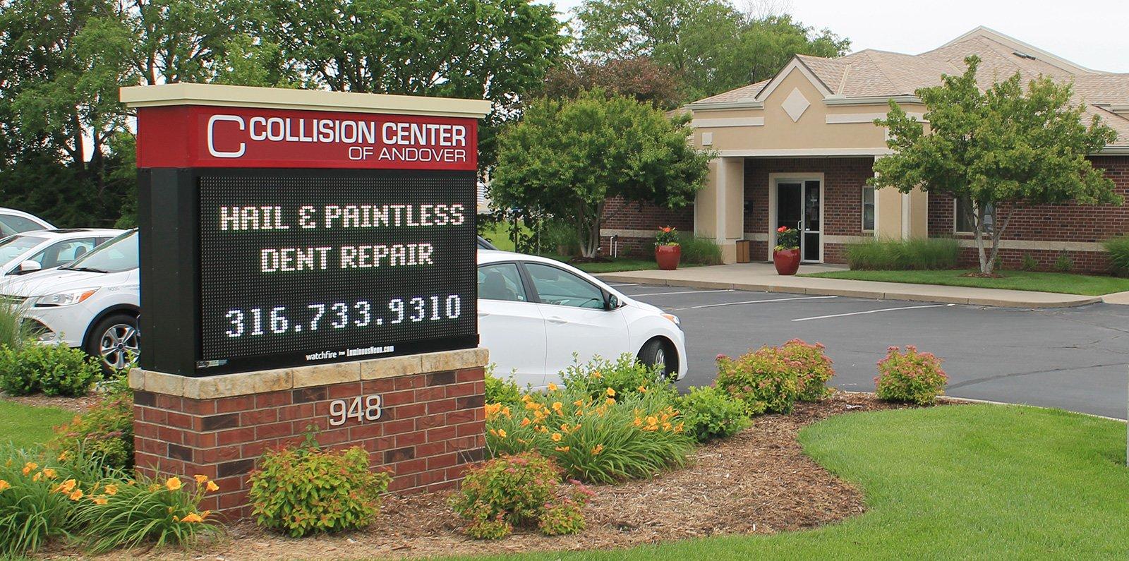 exterior of Collision Center body shop