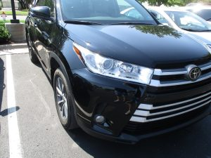 repaired toyota suv with collision repair work